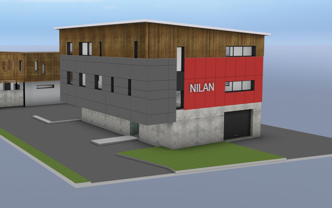 Construction batiment Nilan : 3D